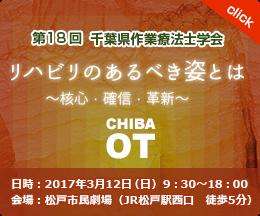 18回 千葉県作業療法士学会 リハビリのあるべき姿とは 2017年3月12日(日) 9:30-18:00 松戸市民劇場